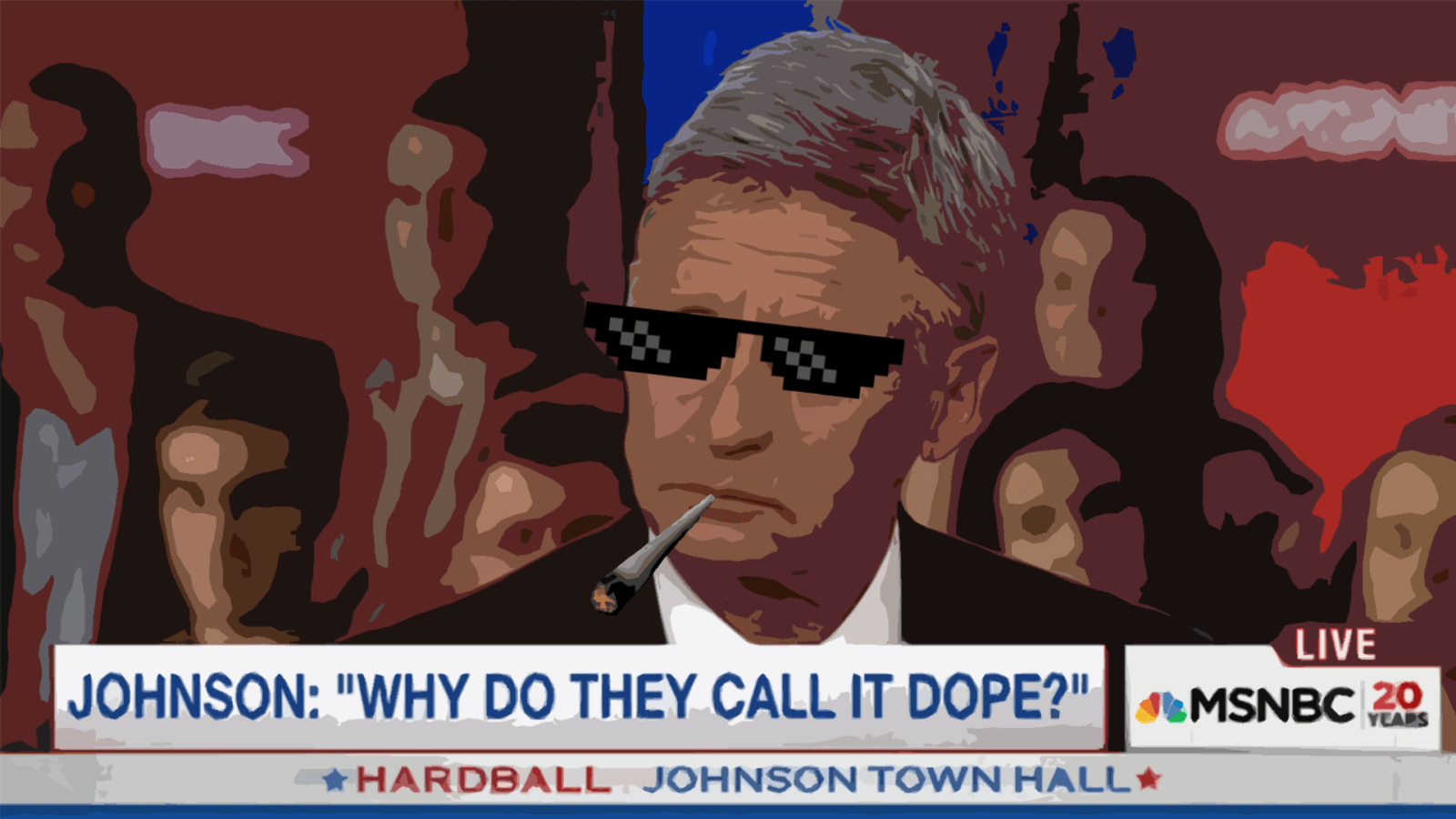gary johnson smokes weed
