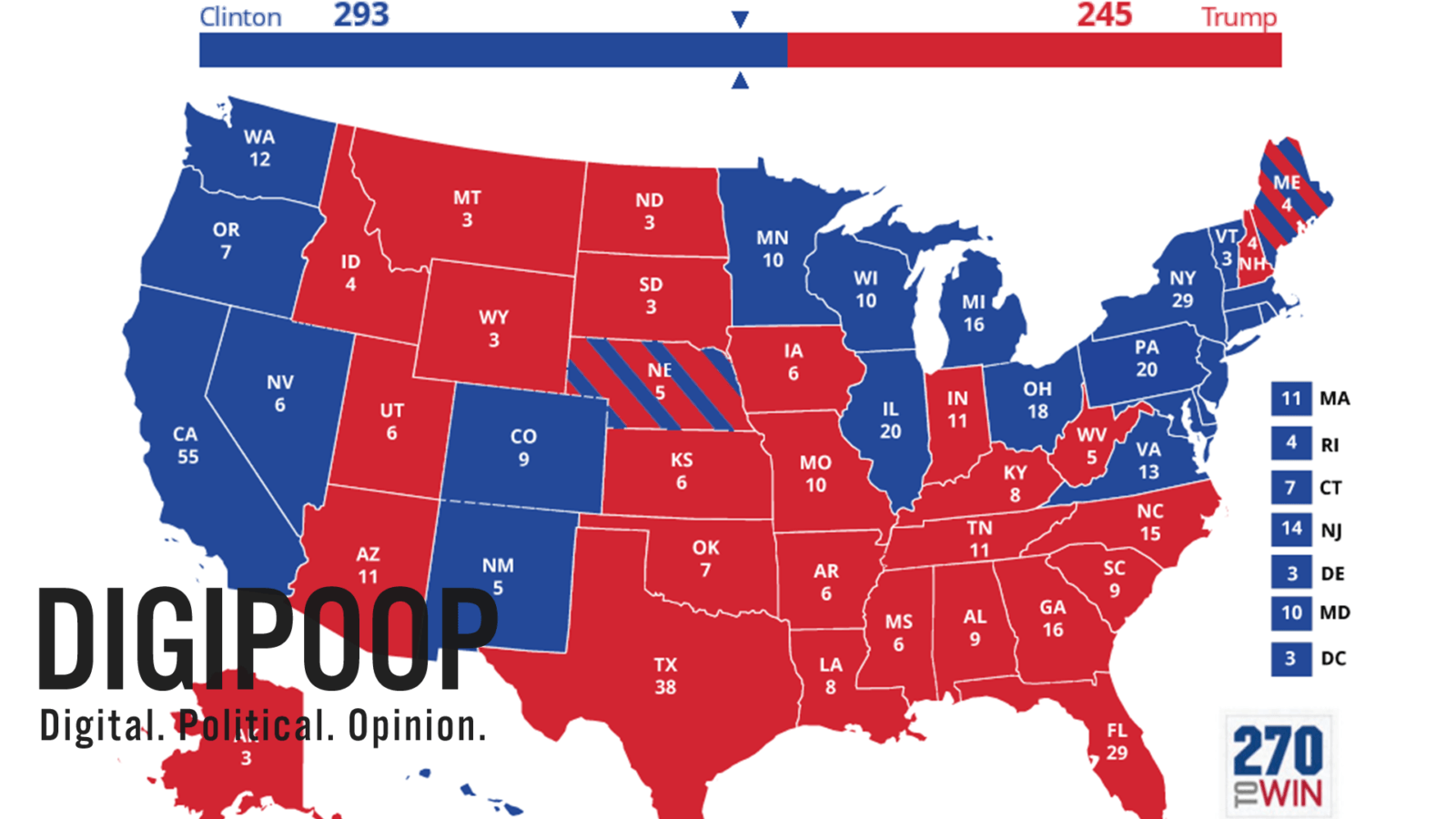 2016 predictions map