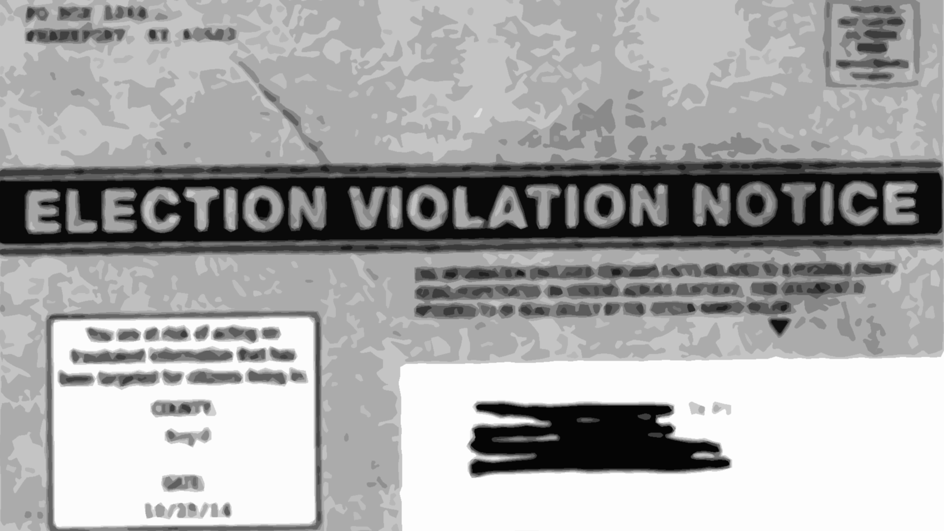 election violation notice fake news